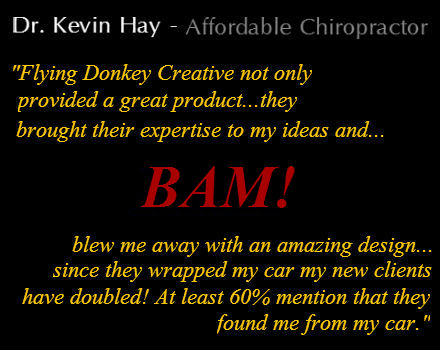 Affordable Chiropractor | Window Graphics | Custom Design | HDU Signs | Woodstock, GA