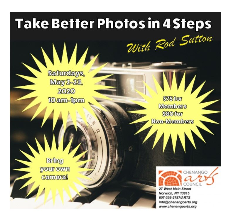 Take Better Photos in 4 Steps