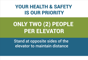 only 2 per elevator