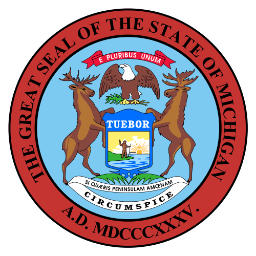 W32270 - Great Seal of Michigan Wall Plaque