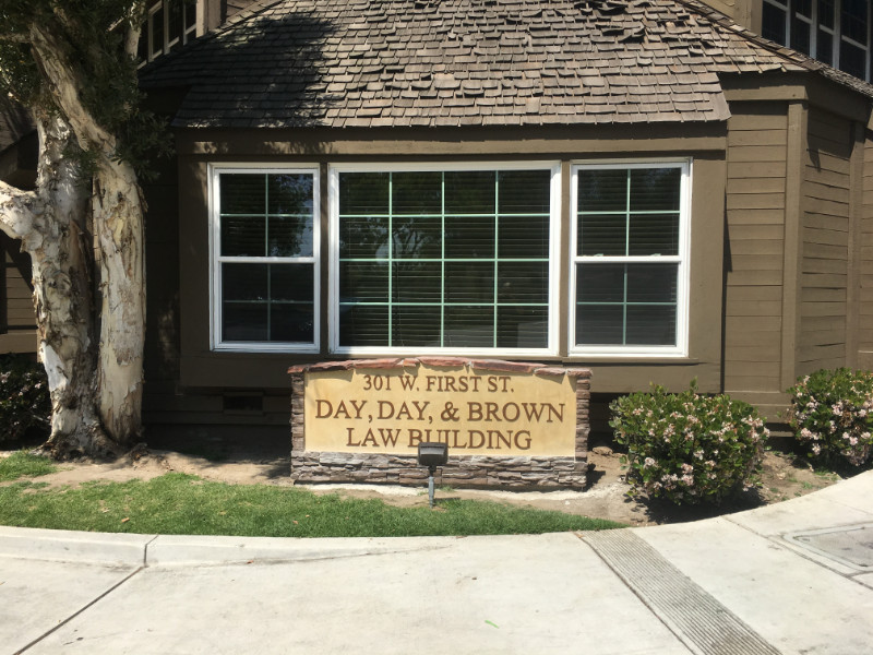 Day, Day & Brown - Monument Sign - Aluminum 3D Lettering