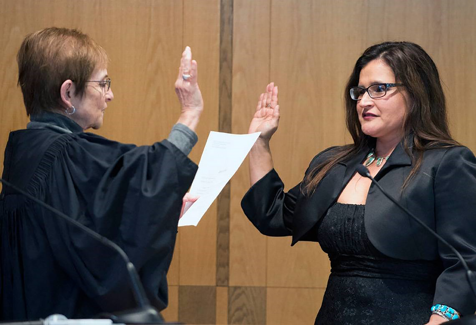 Swearing in Judge Raquel Montaya-Lewis to the Whatcom County Superior Court, January 16, 2015.