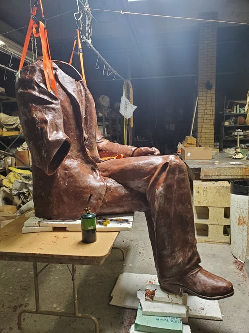 Statue is at the Foundry