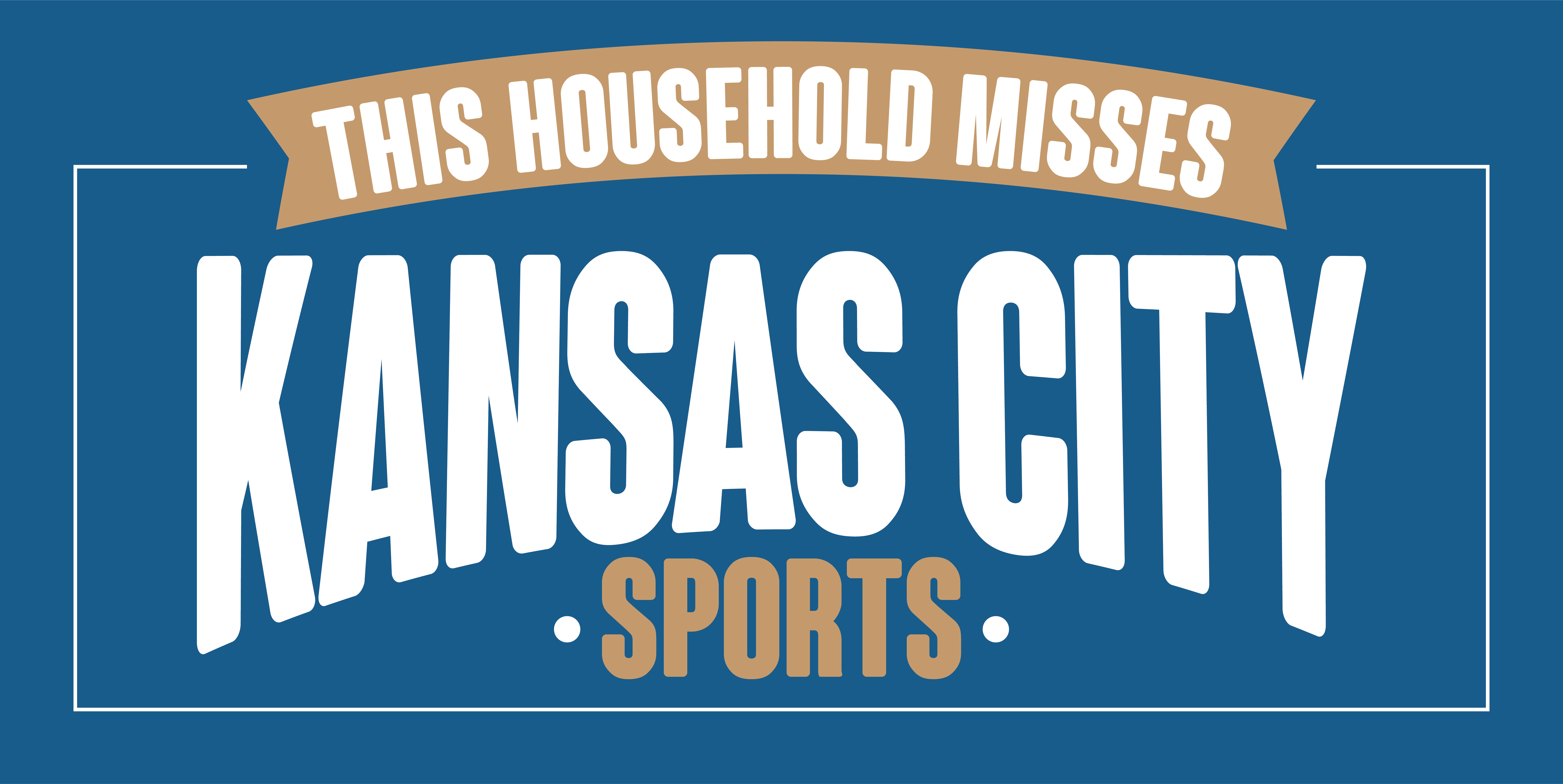 "24"" x 48"" I Miss KC Sports Banner -Blue"