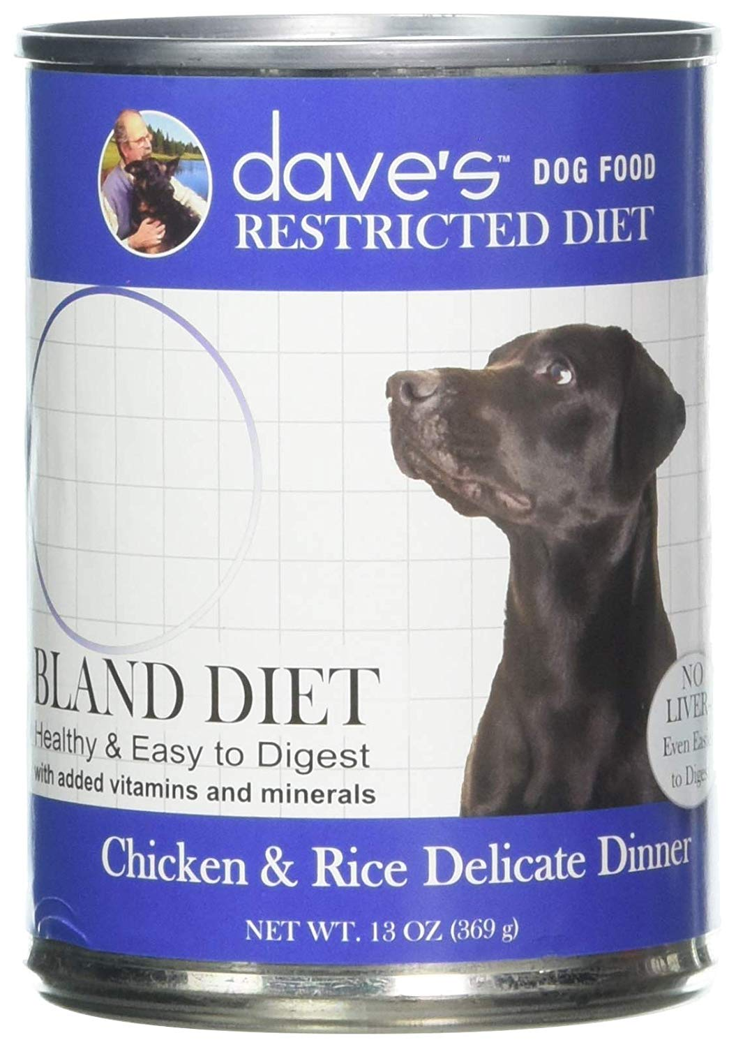Dave's Pet Food Chicken and Rice Dog Food - Restricted Bland Diet Canned Dog Food