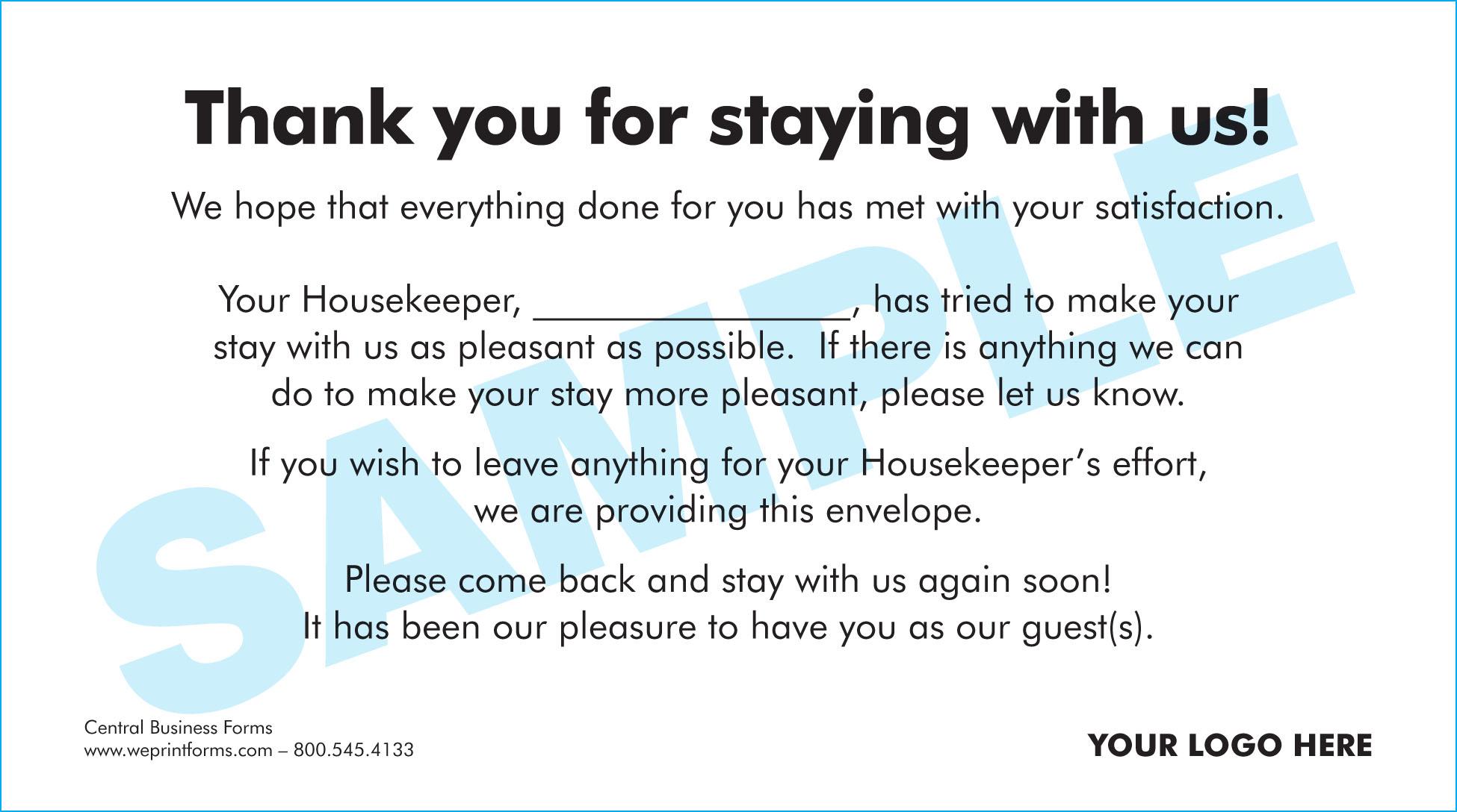 Housekeeping Envelope