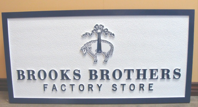 SA28370 - Sandblasted HDU Sign for Brooks Brothers Factory Store