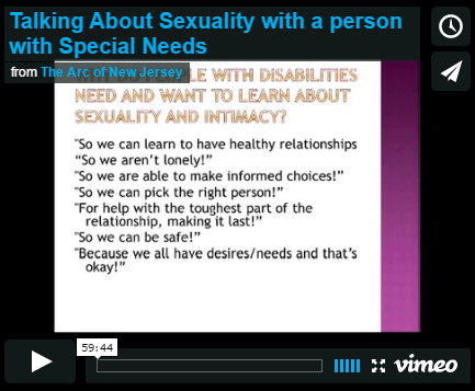 Talking About Sexuality with Someone with Special Needs