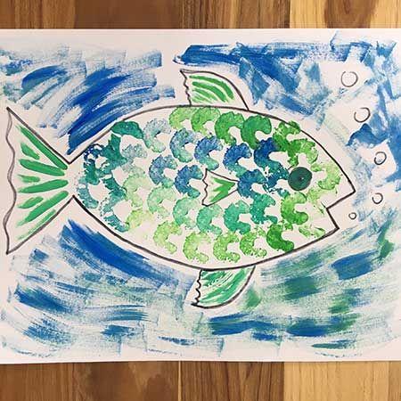 Celery Print Fish