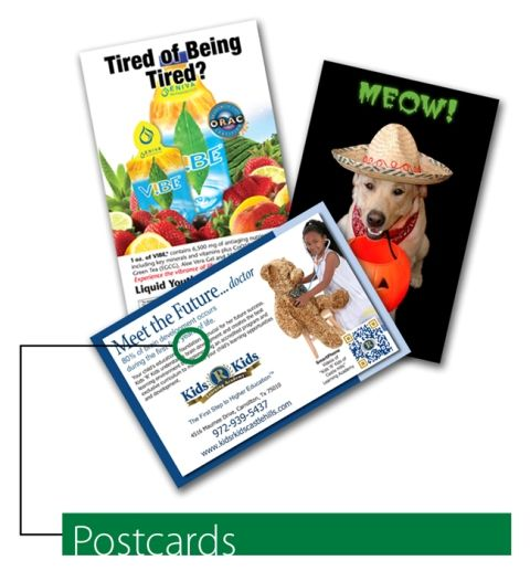 Postcard design examples