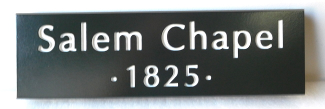 D13157 - Engraved Sign for Salem Chapel, founded in 1825