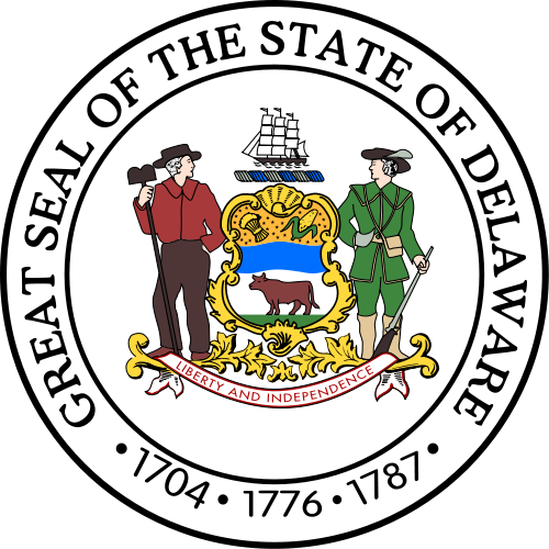 W32100 -  Seal of the State of Delaware Wooden Plaque