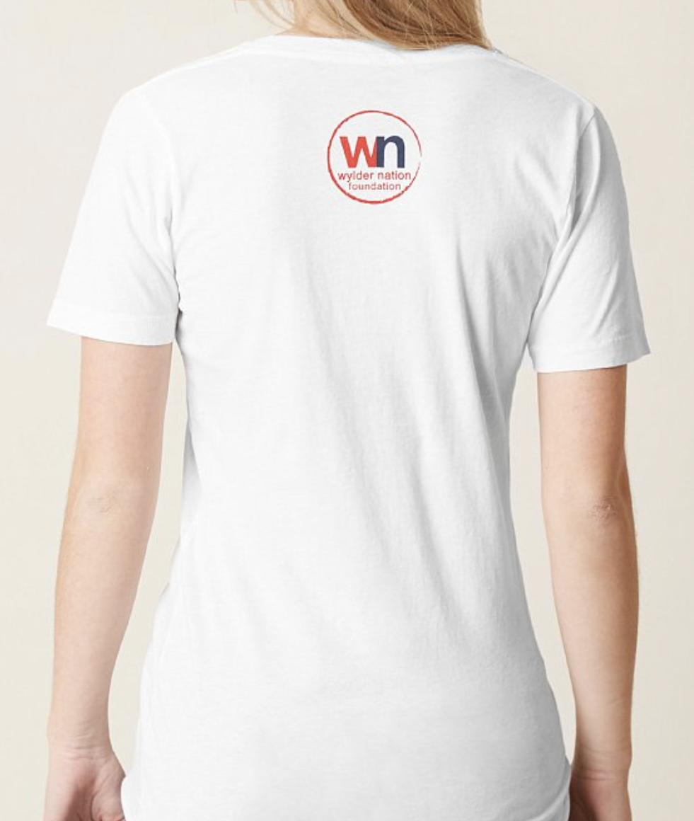 WN/Hurley Hope Whale Breach White V-neck T-Shirt