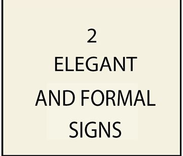 2, -- Elegant and Formal Estate and Property Name Signs,with Engraved Script Text and Gold Leaf