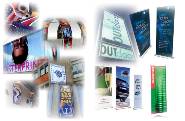 Banners/banner stands