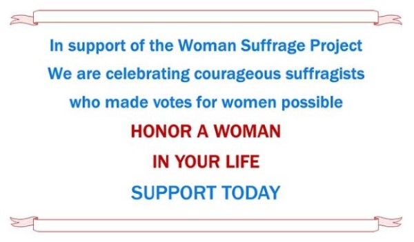 Support Suffrage Banner