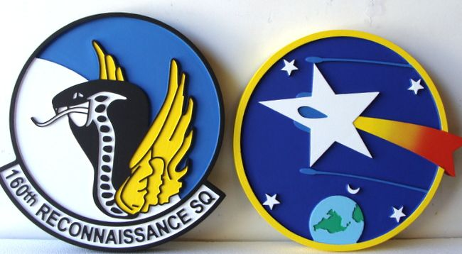 V31526 - 2.5D Carved Wall Plaques for USAF 160th Reconaissance Squadron