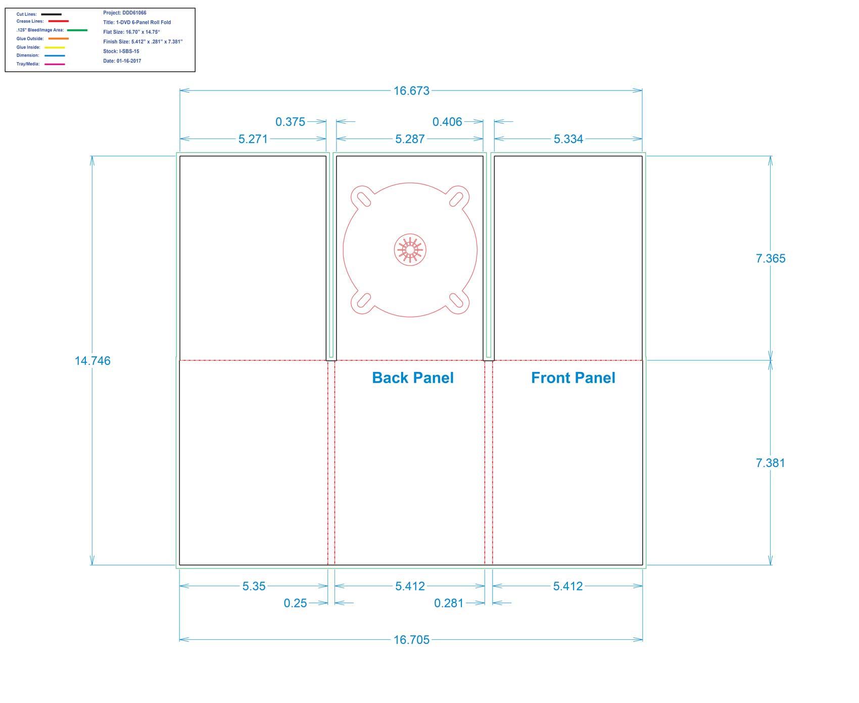DDD61026 - 6 Panel Digi One Tray Roll Fold