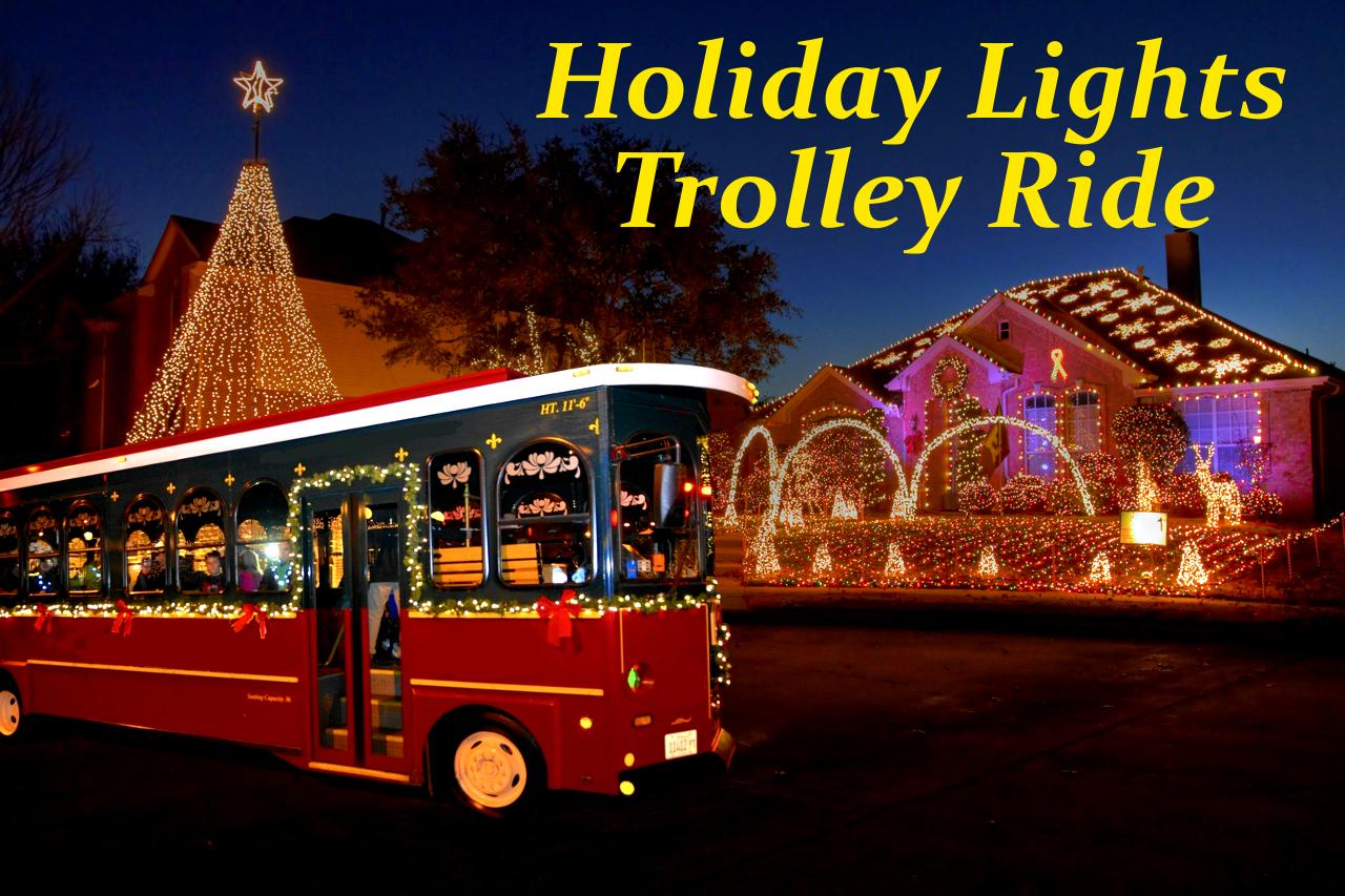 Christmas Light Tour on Ollie the Trolley