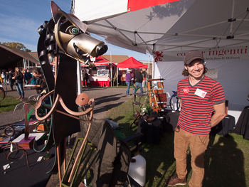 Local Artist Ryan McDanel at Letchworth Arts and Crafts Show (2015)