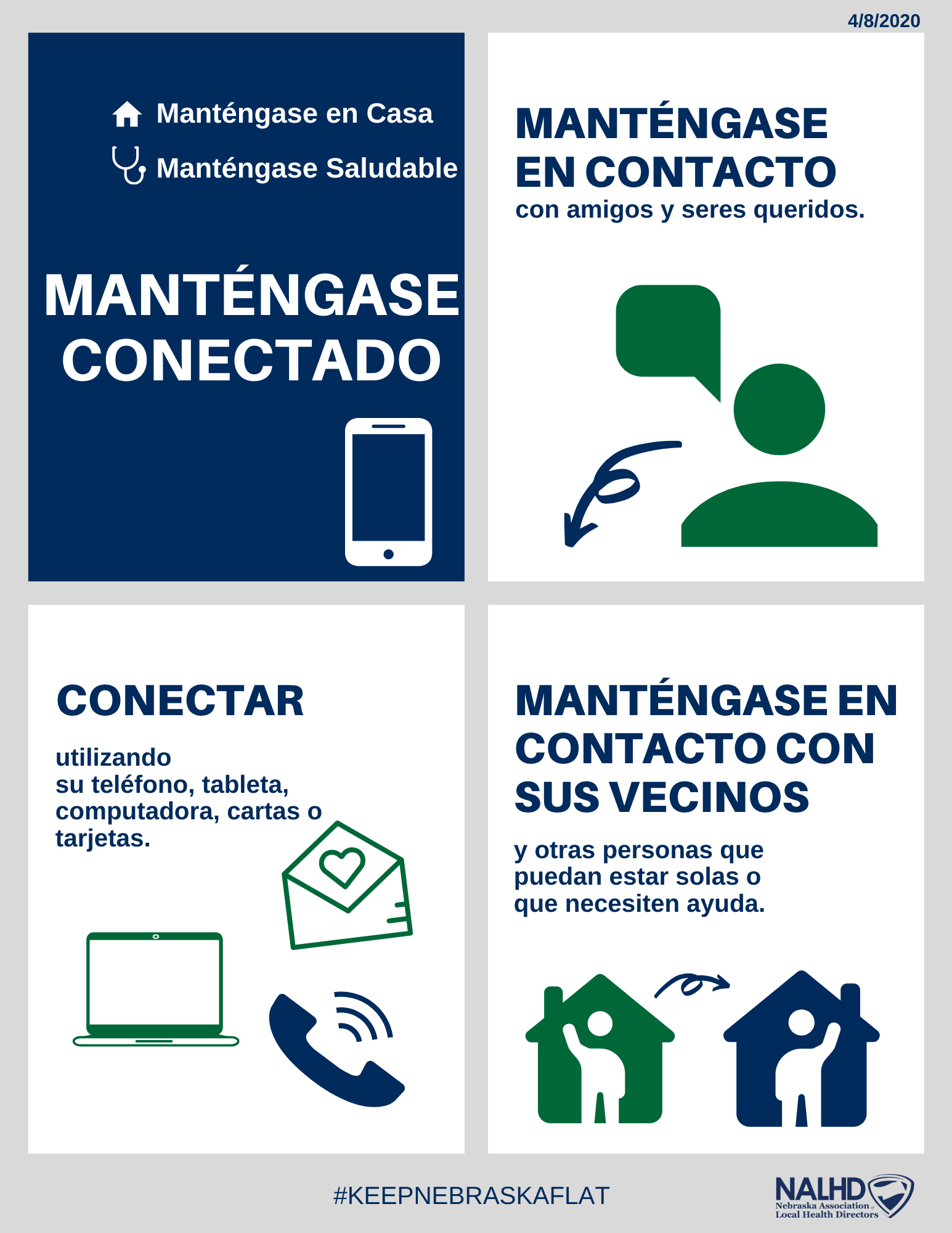 Stay Connected  Spanish