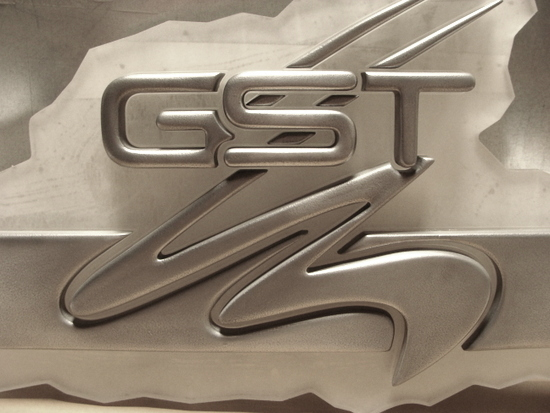 M7277 - Shiny Aluminum-Coated  3D Car Logo
