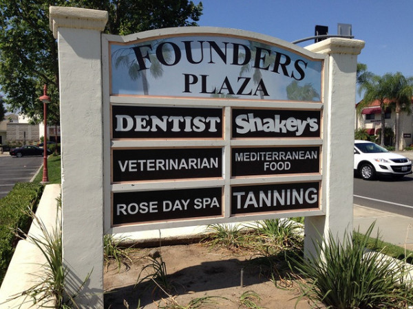 Tenant signs for property management companies in Orange County CA