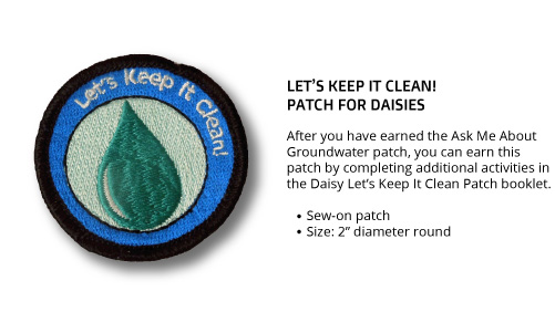 """Daisy """"Let's Keep It Clean"""" Patch"""