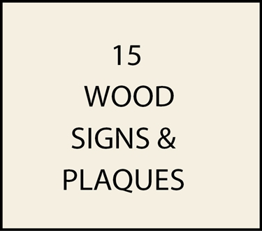 15. - I18915 - Wooden Property and Residence Signs & Plaques