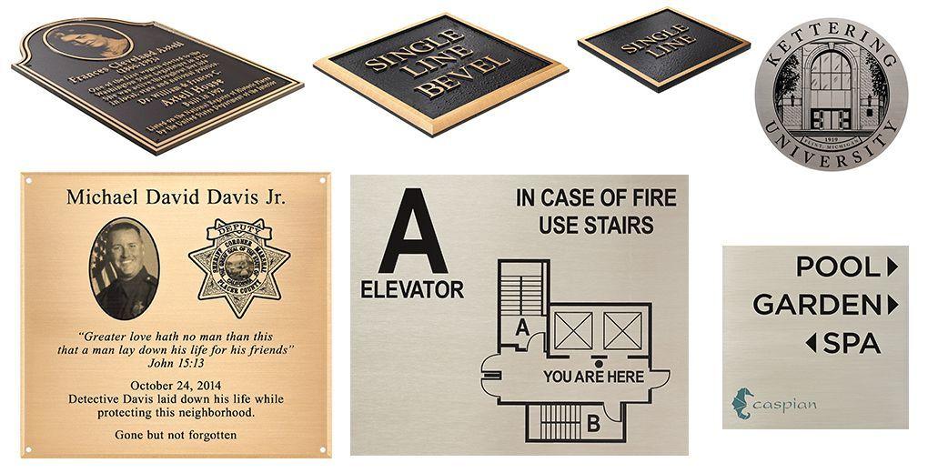 Plaques Etched & Cast