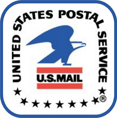 U30452 - United States Postal Service Emblem Carved Wood Wall Plaque
