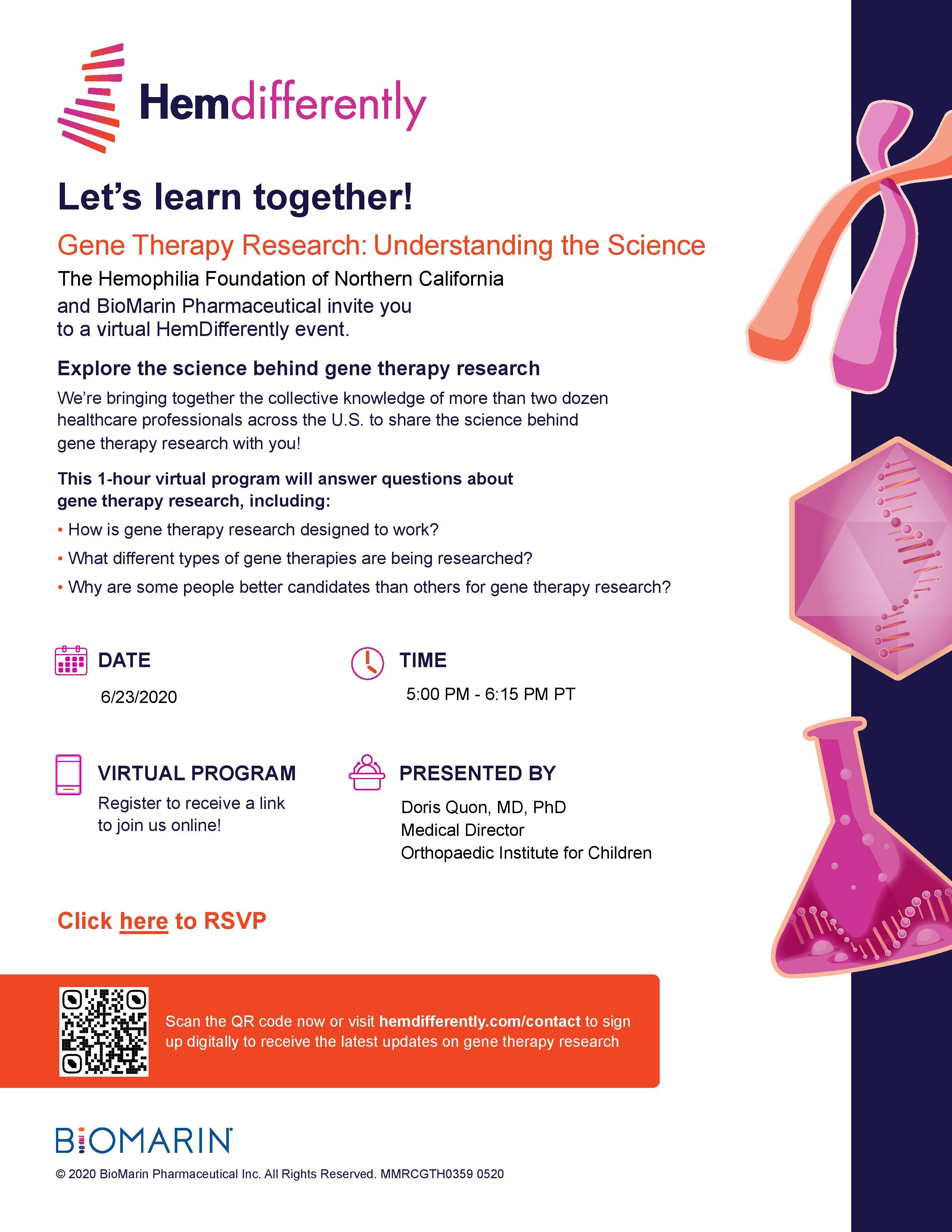 Webinar: Gene Therapy Research - Understanding the Science