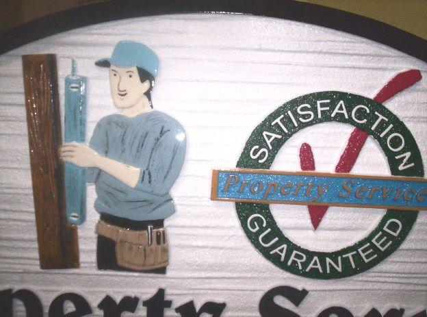 SA28580 - Close-Up of Artwork from Property Maintenance Company.Sign SA28576