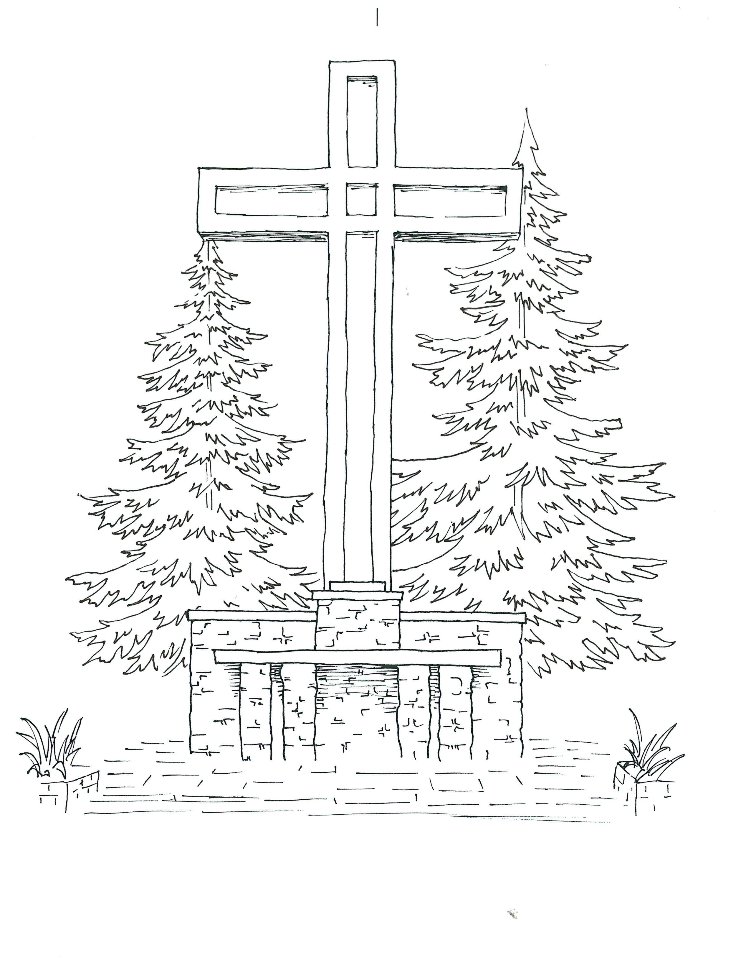 Easter Chapel Hill Coloring Page (PDF)