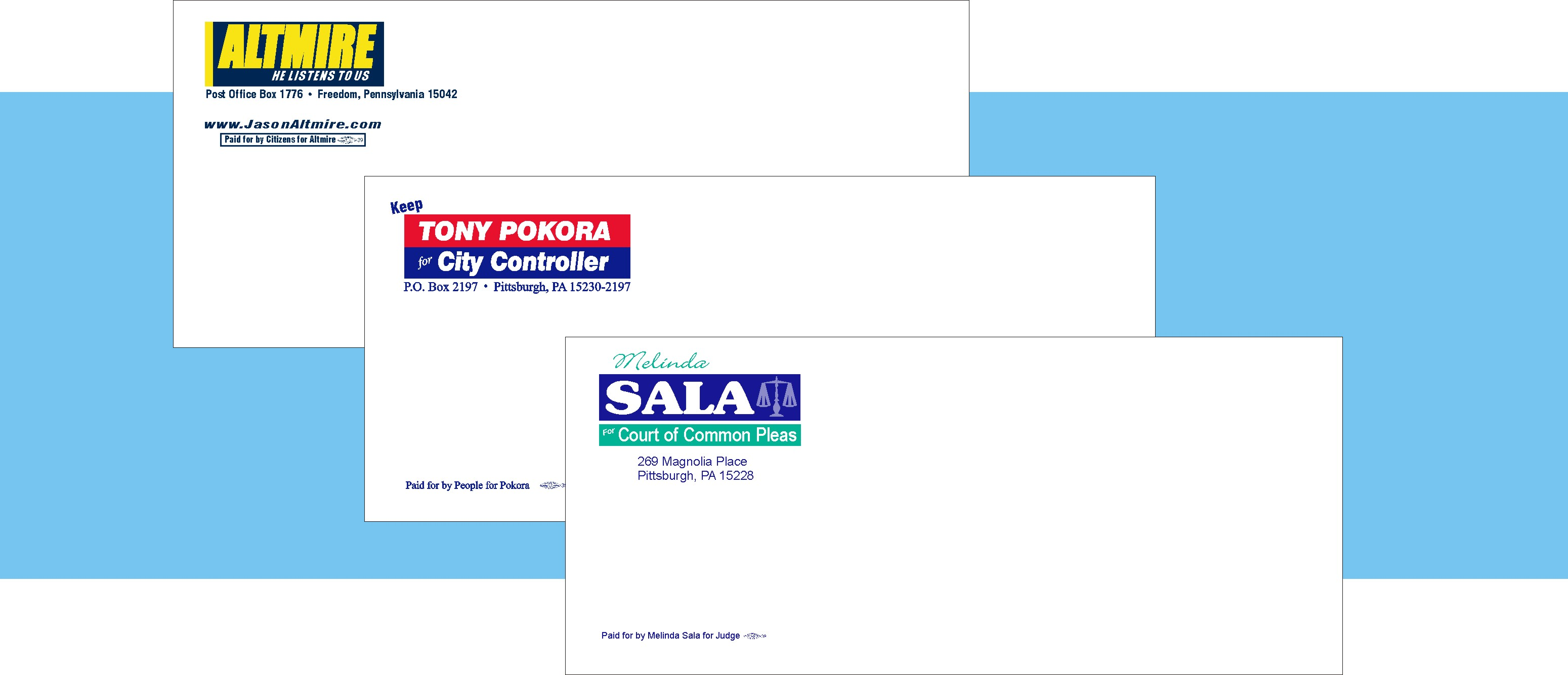 envelopes political union campaign