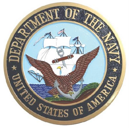 V31202 - Wall Plaque of the Great Seal of Department of the Navy