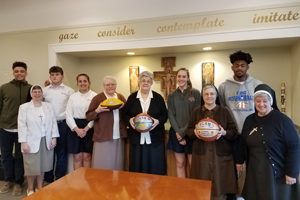 OLSH Students Visit Provincial House to Celebrate WPIAL Championships