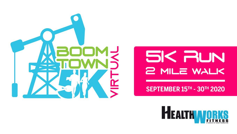 VIRTUAL Boomtown 5k run / 2 mile walk