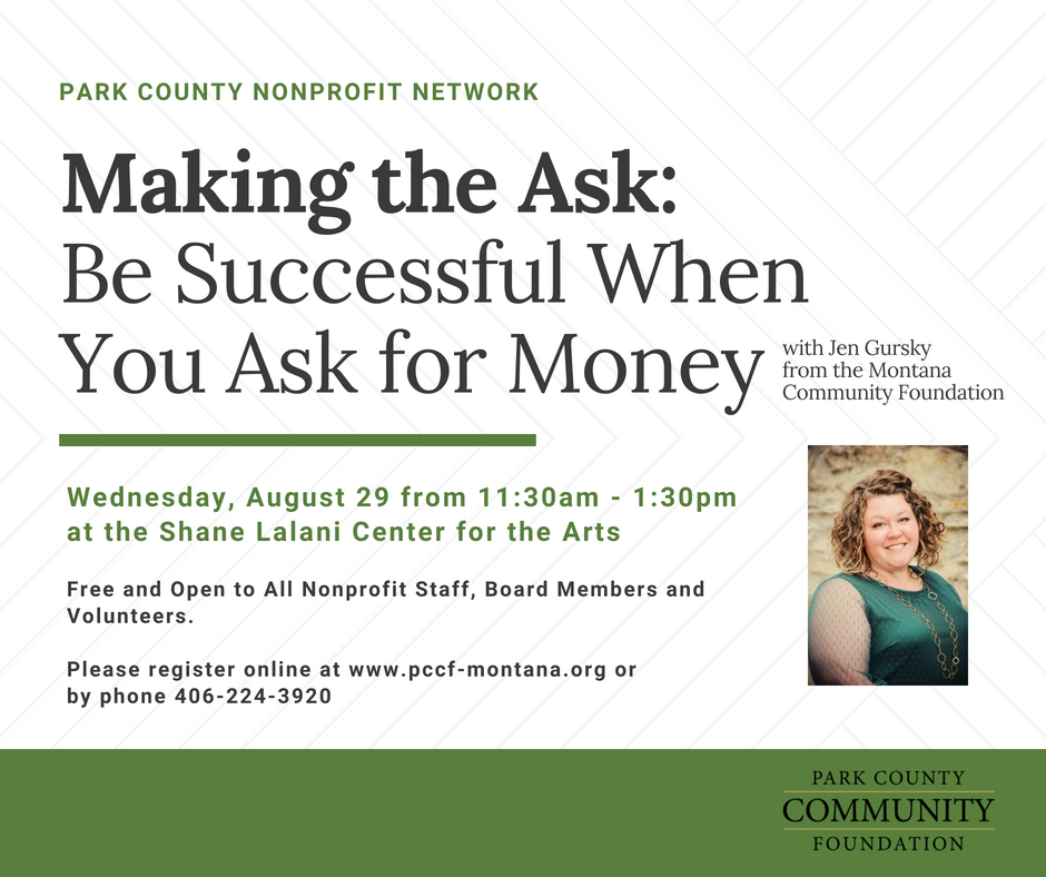 August Nonprofit Network: Making the Ask - Be Successful When You Ask for Money