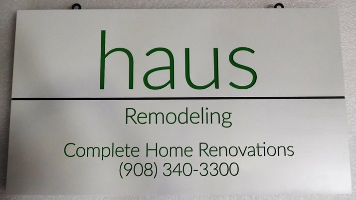 "S28107- Carved Engraved  HDU Commercial Sign for  ""Haus Remodeling"", 2.5-D Artist-Painted"