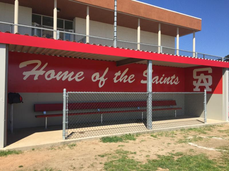 Vinyl graphics for school stadiums in Orange County CA