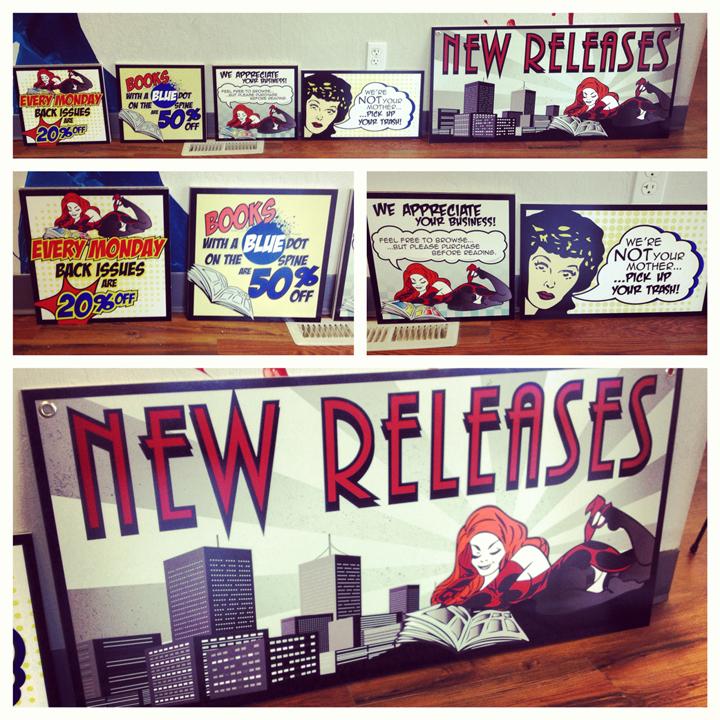 Illusive Comics Indoor Signage