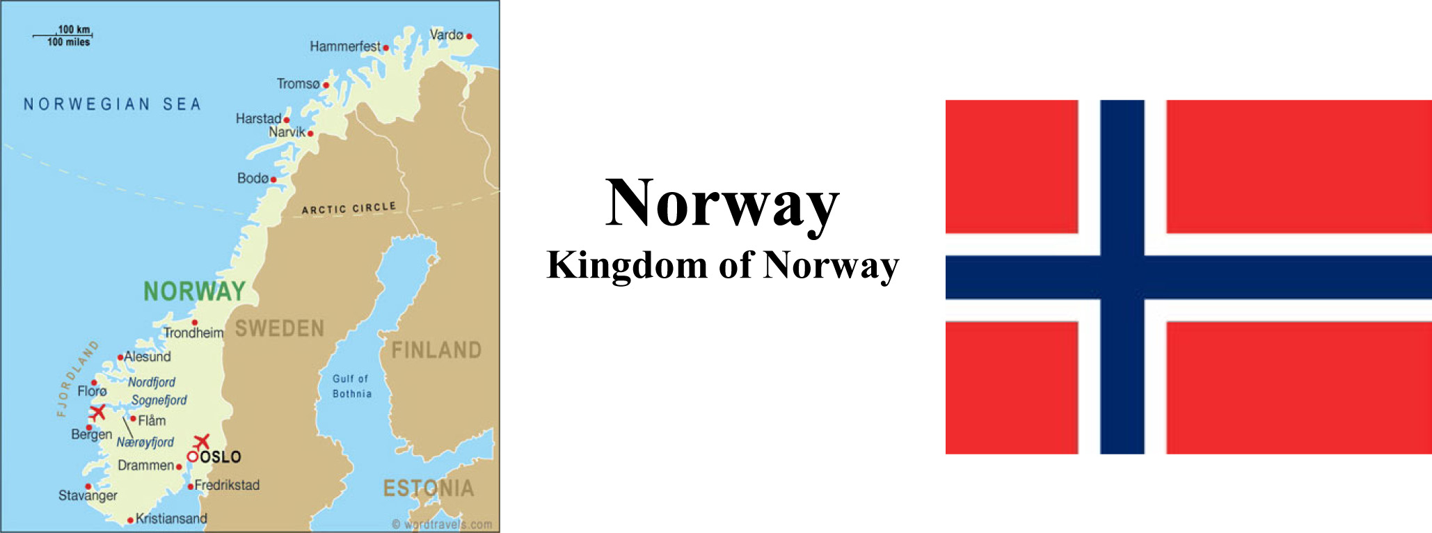 Norway Map & Flag