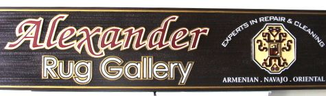 SA28326 - Wood Sign for Rug Gallery for Armenian, Navaho and Oriental Rugs for Sale & Repair