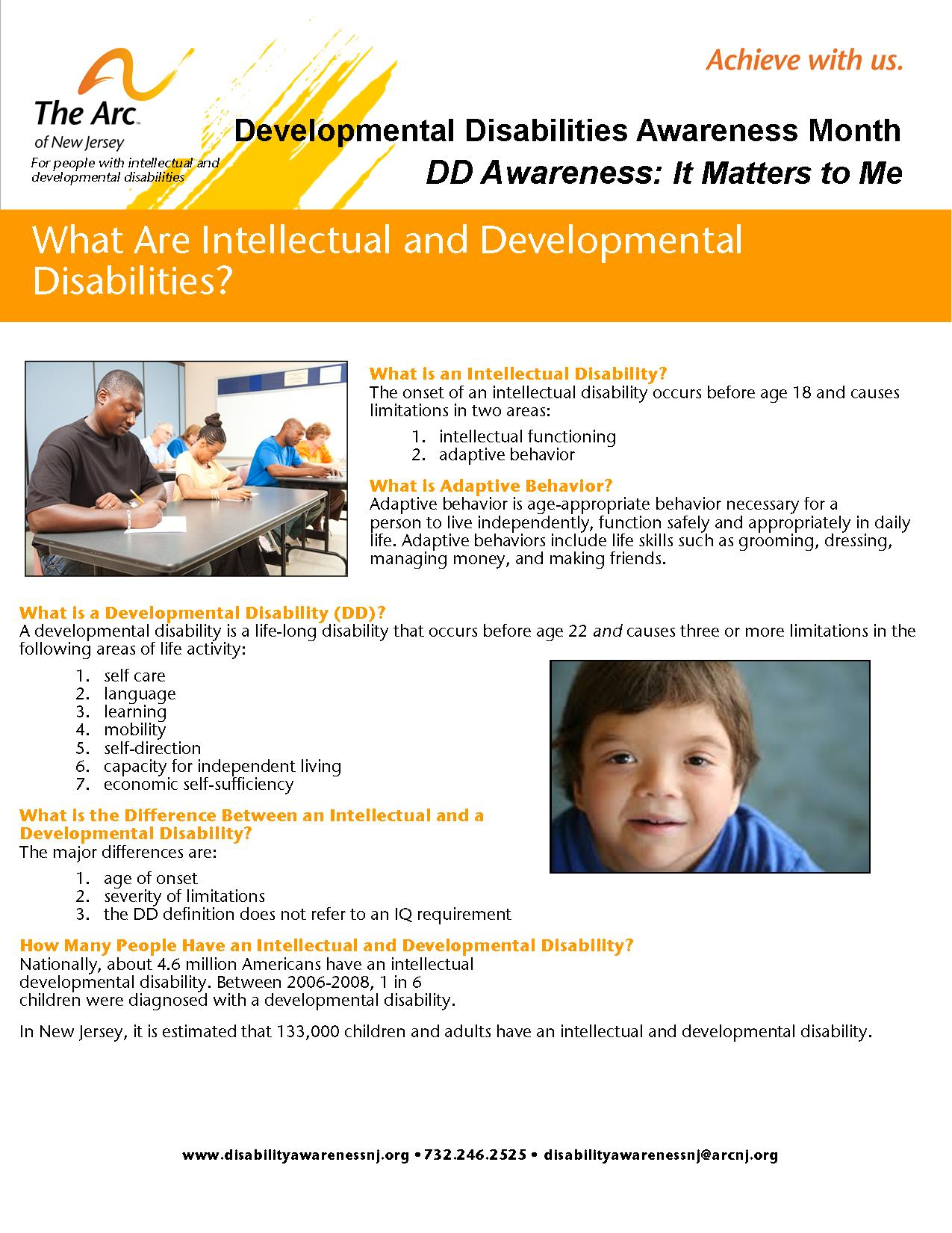What is an Intellectual or Developmental Disability?