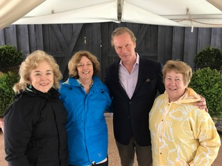 Colonial Triangle Unit members and P. Allen Smith