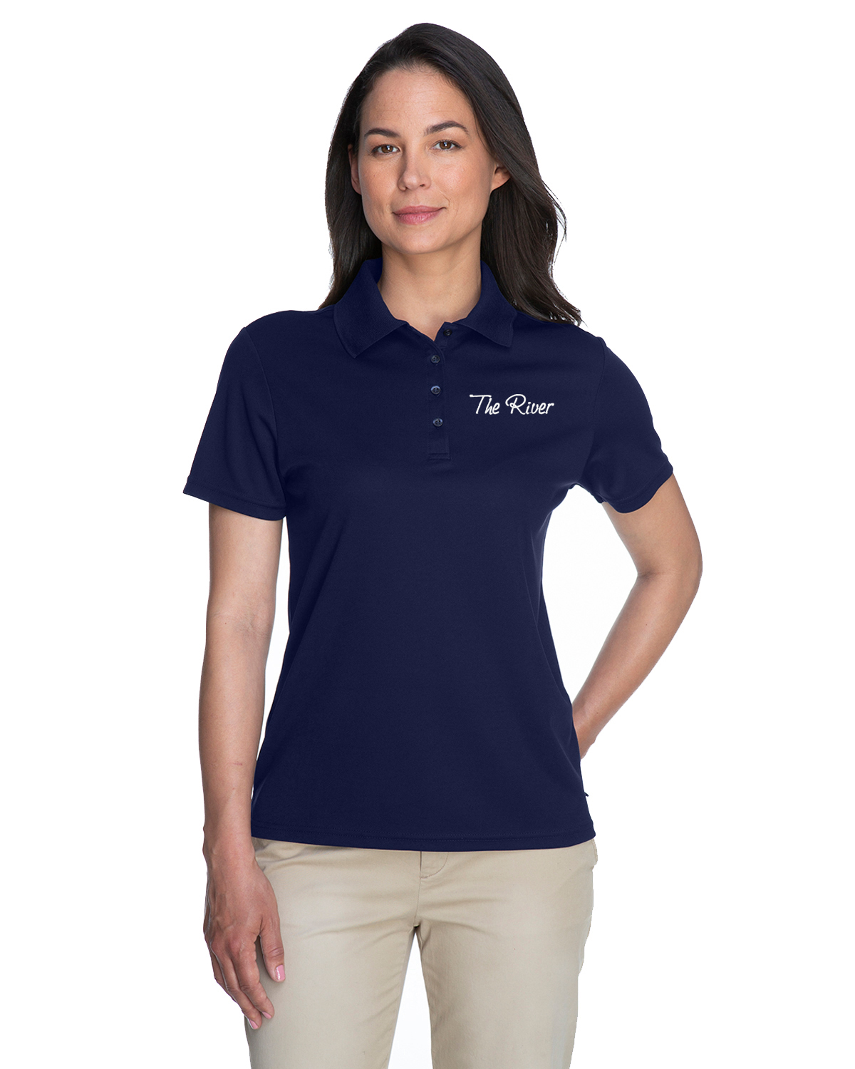 78181 Core 365 Ladies' Origin Performance Piqué Polo Classic Navy