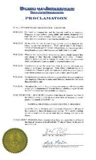 Governor Mike Beebe proclaims April 2014 Financial Literacy Month