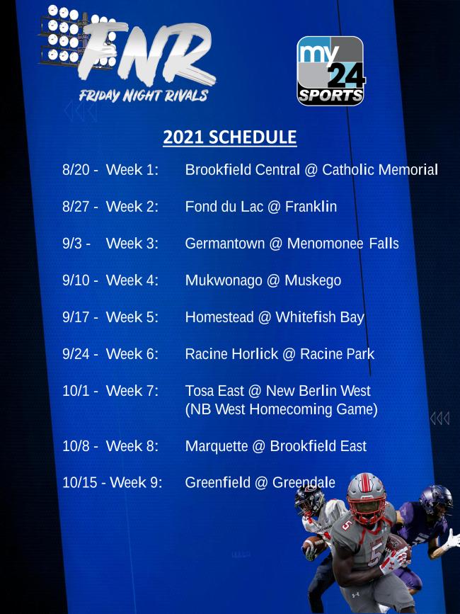 Friday Night Lights 2021 schedule flyer
