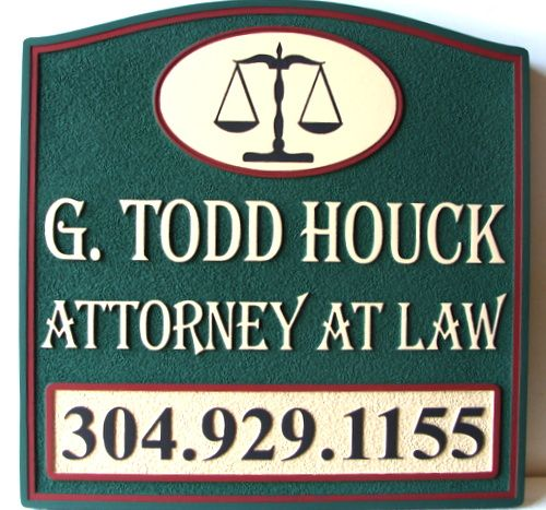 A10006 - Attorney at Law Sandblasted HDU Sign